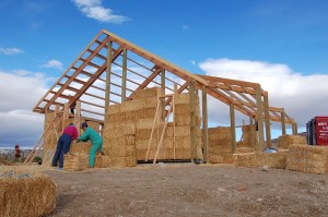 Straw bale home constructions, home construction
